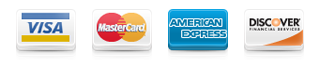 Accepted Forms of Payment: VISA, MasterCard, American Express, and Discover