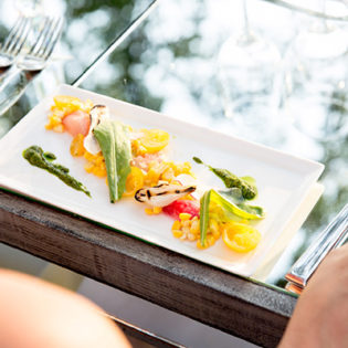 Enjoy a beautifully plated food pairing to compliment your wine experience event at St. Supéry