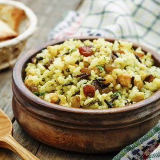 Vegetable Wild Rice with Sage and Dijon Vinaigrette