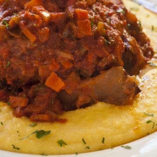 Braised Beef Ragu with Polenta
