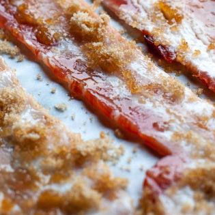 Dollarhide Peach Glazed Peppered Kentucky Bacon