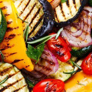 Herb and Garlic Marinated Summer Vegetables