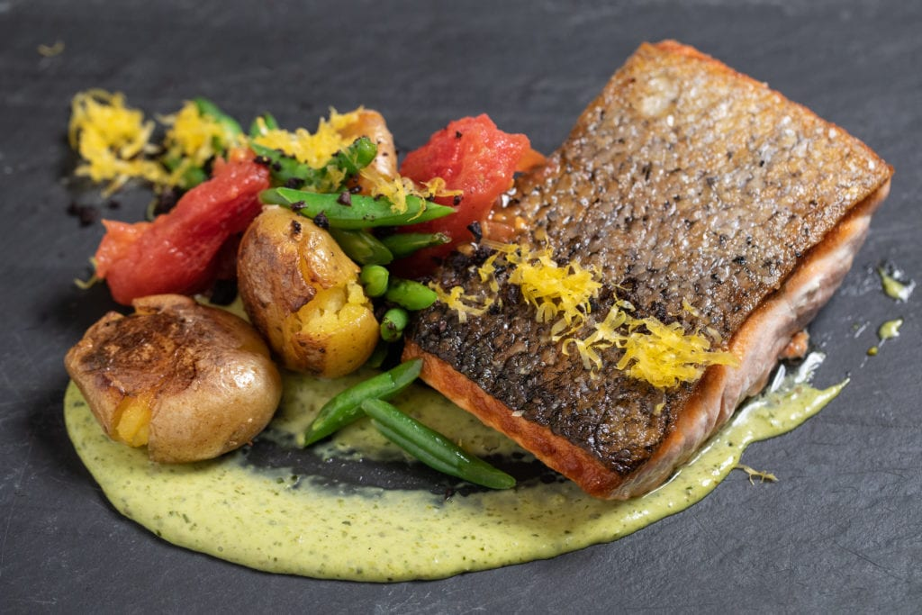 smith and wollensky Mustard Crusted Salmon