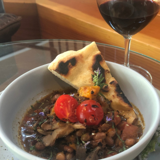 Grilled Mushroom and Bean Ragout