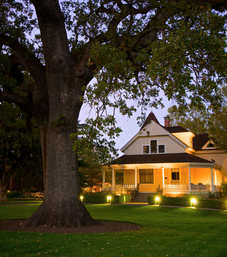 Historic Atkinson House at Dusk