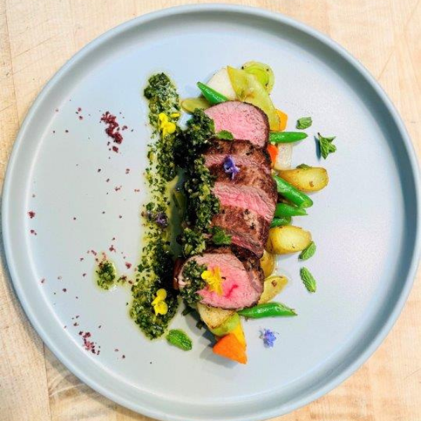 Lamb Loin with Spring Vegetables