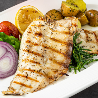 Grilled Bass with Herbed Butter
