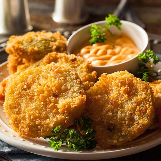 Fried Green Tomatoes, Sauce Remoulade