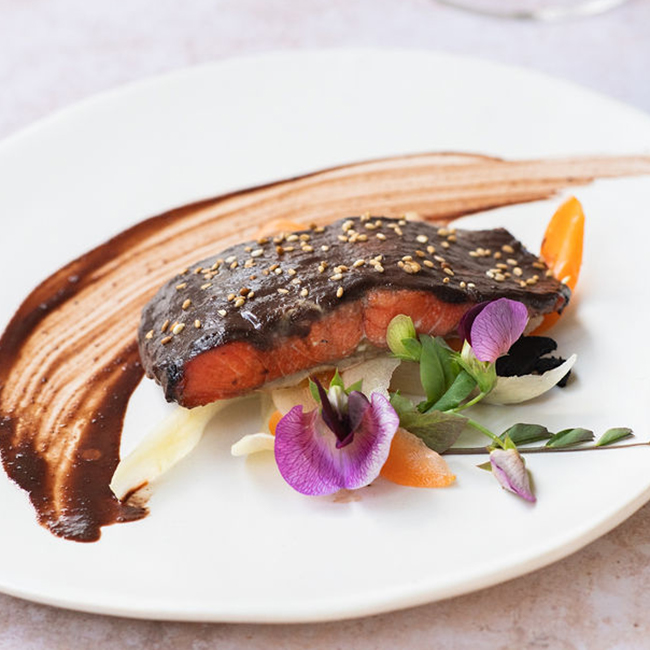 Red Wine Red Miso Salmon