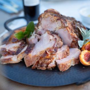Baked Ham with Dollarhide Ranch Peach Preserve Glaze